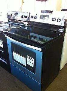 BLACK  Smooth Top STOVE Used $375 - STAINLESS $490 Both with WARRANTY  -   Sale  9267-50 Street Edmonton