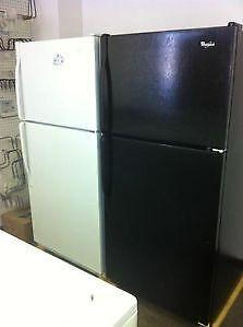 """- BLACK Whirlpool FRIDGE $375   ///    """"SALE""""  $290 to $550 with Warranty at  9267 - 50 St Edm"""