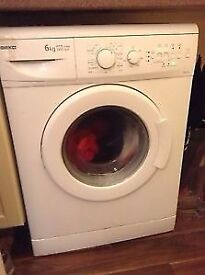 54 Beko WM6143 6kg 1400 Spin White A+A Rated Washing Machine 1 YEAR GUARANTEE FREE DEL N FIT