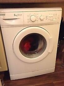 Beko WM6143 6kg 1200 Spin White A+A Rated Washing Machine 1 YEAR GUARANTEE FREE FITTING