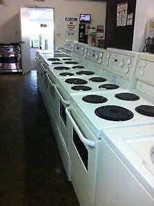 White Coil Top Stoves $250 to $300  - Smooth Tops $325 with Warranty 9267 - 50 Street Edmonton