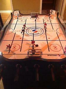 jeu de hockey a tige de metal