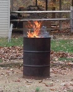 Steel burn barrels NOW IN STOCK