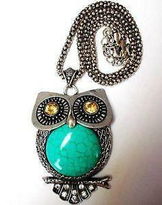 Owl necklace ebay vintage owl necklaces aloadofball Image collections