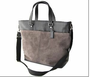 COACH bag Tote suedeand leather #F70420