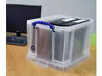 Set of 6 - Really Useful 9 Litre A4 Plastic Storage Boxes
