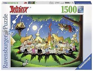 RAVENSBURGER PUZZLE ASTÉRIX 1500 LA BANQUET COMME NEUF TAXES INC