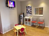 Front Desk in Busy Chiropractic and Physiotherapy Clinic