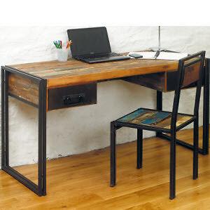 Urban chic reclaimed wood desk