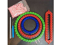NEW Knitting Loom Assortment: 4 Looms with extra pegs for bulky & fine yarns