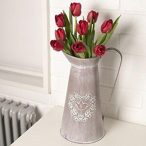 Large jug vase bird heart pot planter