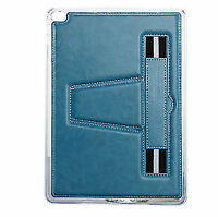 Belt Holder Leather Case Cover for Apple iPad 5 Air Brown & Blue