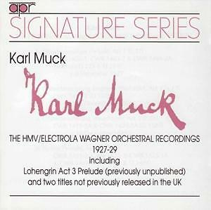 Karl Muck Conducts Wagner 1927-1929 CD NEU