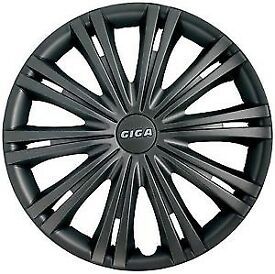 "Autocare Giga 13"" dark grey wheel trims brand new x4"
