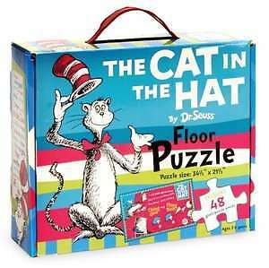 ▀▄▀Dr Seuss The cat in the Hat Floor Puzzles 48 pieces