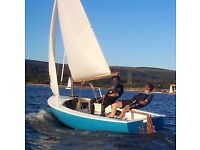 GRP hull Albacore sailing dinghy