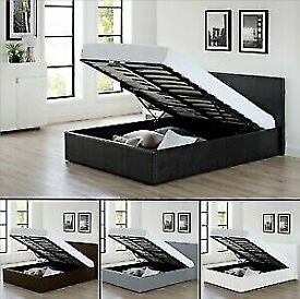 🔵💖🔴TOP SALLING BED🔵💖🔴LEATHER OTTOMAN STORAGE SINGLE-DOUBLE+SMALL DOUBLE & KING SIZE BED FRAM