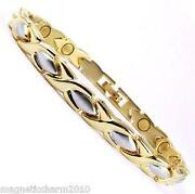 Ladies Silver Magnetic Bracelet