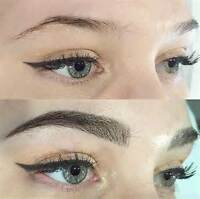 Microblading and eyelash extentions