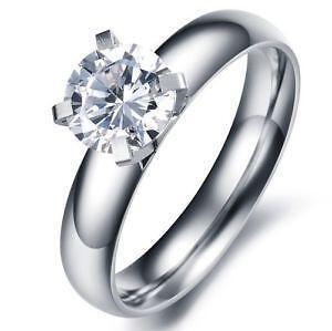 Charming Womens Titanium Engagement Ring