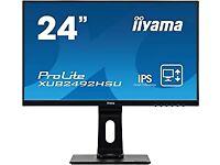"2 x Japanese quality monitor iiyama 24"" IPS LCD with Slim Bezel, 4ms, Full HD"
