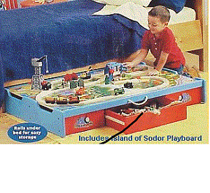 Thomas & Friends -Under-the-Bed Trundle Playtable (Brand New)
