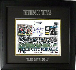 Music City Miracle signed Titans 8x10 Photo w/ Kevin Dyson sig Engraved Framed