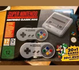 SNES mini classic boxed with over 300 games added