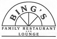 Bing's Spruce Grove- Dishwasher/hostesses