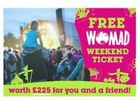 FREE TICKET TO WOMAD FESTIVAL – 26th-29th July
