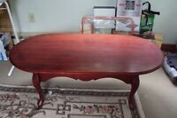handmade cherrywood coffee table
