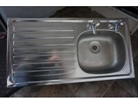 Pyramis Kitchen Sink and Taps 935 x 485 mm