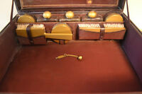 Very oLd Leather Toiletry Vanity Case