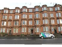 Traditional 1 bedroom first floor part furnished flat on Wellshot Road, Tollcross East end