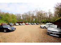 Vehicle sales, storage for 60 cars, workshops for rent 1.3 acres, secure gated site close to m25