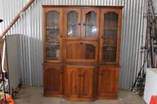 LARGE SOLID TIMBER AND GLASS LEAD LIGHT BUFFET AND HUTCH/CABINET Lawnton Pine Rivers Area Preview