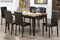 BRAND NEW 7 PIECE FAUX MARBLE DINETTE**$200 OFF