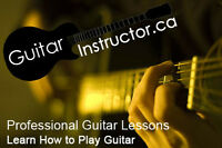 Professional Guitar Lessons - In your home or in my studio