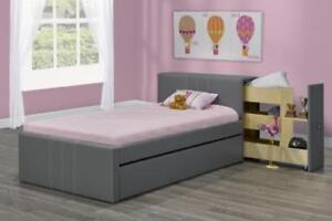 Single Platform Bed With Drawers | Canadian Made Bedroom Set- Can be Custom Furniture Sale (T1101)