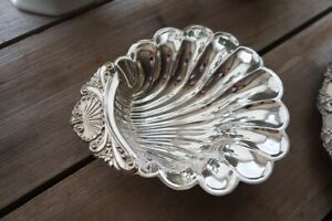 Vintage silver plate candy dish