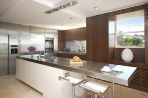 STAINLESS STEEL KITCHEN COUNTER TOP MADE IN CANADA