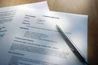 Rédaction de CV et de lettre de motivation