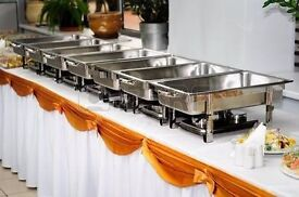 chafing dishes, serving dishes, buffet chafers, chaffing dish, gel fuel, party food serving dishes