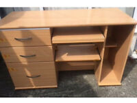 Executive office desk with built in drawers and shelves furniture