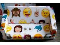 childs Emoji mini sofa bed lilo new