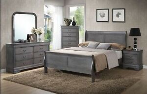 CLEAR OUT!! Grey Wooden Full Bedroom Set