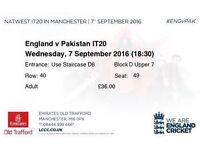 England vs Pakistan T20 Tickets