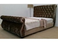 """ BRAND NEW "" SWAN SLEIGH BED KING SIZE 5FT BARGAIN !!"