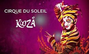 4x VIP Cirque Du Soleil KOOZA in Sydney - August 30, 2016 at 8:00 PM Homebush West Strathfield Area Preview