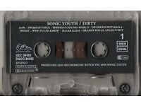 Sonic Youth - Dirty / Dirty Boots - Early 90s Cassettes - Scarce